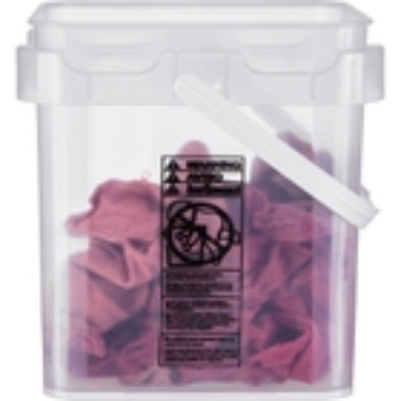 4 Gallon Clarified Square Plastic Pail w/Plastic Handle