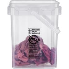 5 Gallon Clarified Square Plastic Pail w/Plastic Handle
