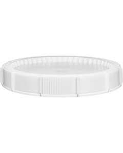 12 Gallon White Threaded Plastic Drum Lid, Life Latch, UN Rated