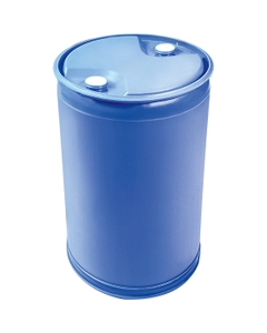 """55 Gallon Blue Tight Head Plastic Drum, Straight Sided, UN Rated, 2"""" NPS & 2"""" Buttress Fittings"""