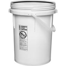 5 Gallon White Threaded Plastic Pail w/Plastic Handle, Life Latch, UN Rated