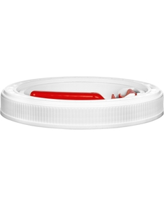 5 Gallon White Threaded Plastic Pail Lid, Life Latch, UN Rated