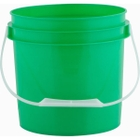 1 Gallon Green Plastic Pail with Plastic Handle
