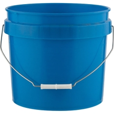 3.5 Gallon Chevron Blue HDPE Plastic Pail with Metal Handle