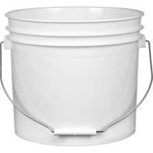 3.5 Gallon White Plastic Pail with Metal Handle (P5 Series)