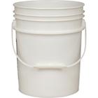 5 Gallon Natural Plastic Pail (90 mil), w/ Plastic Handle (P5 Series)