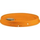 5 Gallon Orange Tear Strip Plastic Pail Lid w/ Rieke Flexspout® (P5 Series)