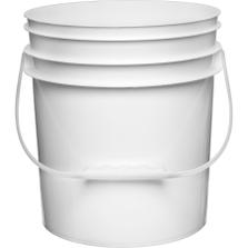 4.25 Gallon White Plastic Pail (65mil) with Plastic Handle (P5 Series)