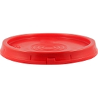 Red Tear Strip Plastic Pail Lid (for 3.5, 5 and 6 Gal Pails)