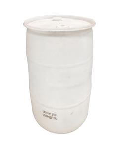 30 Gallon Natural Tight Head Plastic Drum, Reconditioned, UN Rated