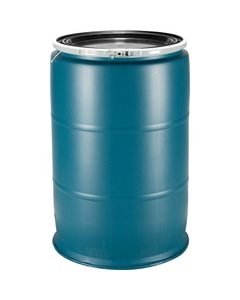 55 Gallon Plastic Drum, Reconditioned, Mixed Colors, UN Rated, Mixed Covers Without Fittings