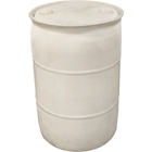 55 Gallon Natural Tight Head Plastic Drum, Reconditioned, UN Rated
