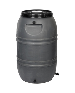 55 Gallon Gray Rain Barrel with Spigot and Overflow