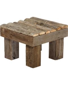 Recycled Wood Rain Barrel Pedestals