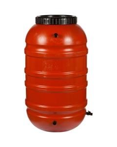 55 Gallon Terra Cotta Rain Barrel with Spigot and Overflow