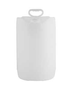 6 Gallon (22.5L) Natural Round HDPE Plastic Tight Head Pail with Fixed Handle, UN Rated, 70mm