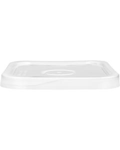 4 Gallon White Square Tear Strip Plastic Pail Lid