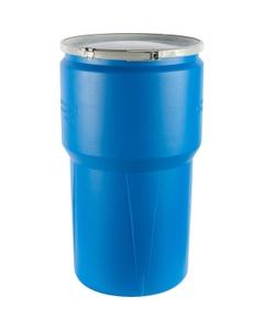 14 Gallon Blue Open Head Taper Sided Plastic Drum, UN Rated