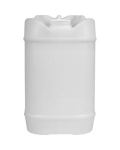 5 Gallon (20L) Natural Plastic Tight Head Container, 70mm (6TPI), Vent