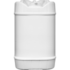 5 Gallon (20L) White Plastic Tight Head Container, 70mm (6TPI), Vent
