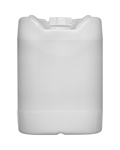 5 Gallon (18L) Natural Plastic Tight Head w'/Cap, 61mm, No Vent Stem