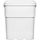 13 Gallon White EZ Stor® HDPE Plastic Container, No Handle