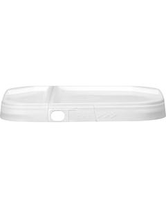EZ Stor® White Tamper-Evident Hinged Plastic Lid w/Pull Ring (2-gallon)