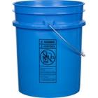 5 Gallon Chevron Blue Plastic Pail (90 mil), w/ Metal Handle