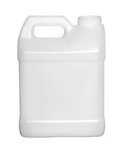 2 Gallon (8L) Natural HDPE Plastic F-Style Bottle, 63mm 63-485
