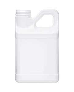 1 Gallon White HDPE Plastic F-Style Bottle, 63mm 63-445