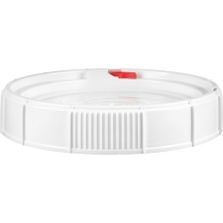 5 Gallon White Threaded Plastic Pail Lid, UN Rated