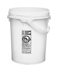 5 Gallon White Plastic Pail w/ Plastic Handle, Threaded Opening, UN Rated