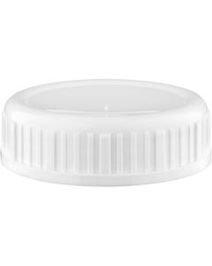 63mm 63-485 White Heavy Weight Cap w/PS Liner