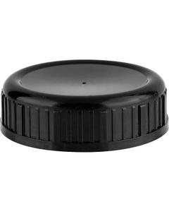 63mm 63-485SL Black Ribbed Heavy Weight Cap w/Foam Liner