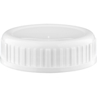 63mm 63-485 White Ribbed Heavy Weight Cap w/HIS Liner for HDPE