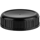 63mm 63-485SL Black Ribbed Heavy Weight Cap w/HIS for HDPE