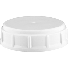 63mm 63-445 White Ribbed (Matte Top) Plastic Buttress Cap w/Foam Liner (3-ply)