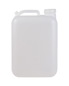 5 Gallon (18L) Natural Rectangular HDPE Plastic Tight Head Pail with Fixed Handle and Cap, 63mm