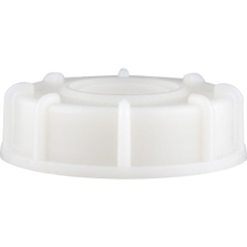 """63mm Natural Screw Cap with 3/4"""" Threaded Knockout & EPDM Gasket"""