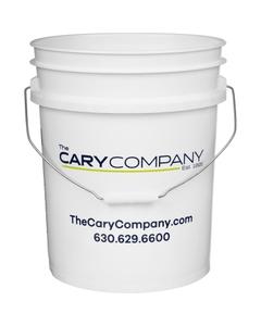 5 Gallon Cary White Plastic Pail (90 mil), w/ Metal Handle (P4 Series)