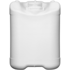 5 Liter White HDPE Plastic Tight Head Container, UN Rated