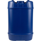 5 Gallon (20L) Blue Plastic Tight Head, Tamper Evident 70mm (6TPI), No Vent Stem, Movable Handle