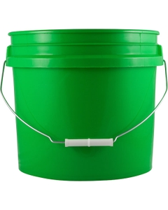 3.5 Gallon Green Plastic Pail with Metal Handle, UN Rated