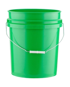 5 Gallon Green Plastic Pail with Metal Handle, UN Rated