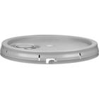 5 Gallon Gray Tear Strip Plastic Pail Lid w/Gasket & Rieke Flexspout® (P6 Series)