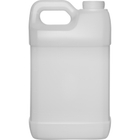 2.5 Gallon Natural HDPE Plastic F-Style Bottle, 63mm 63-445, 340 Grams