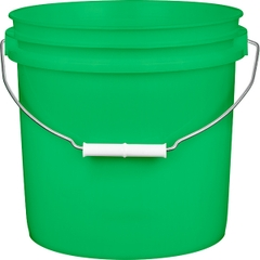 2 Gallon Green Plastic Pail with Metal Handle (P4 Series)