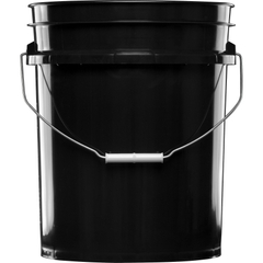 5 Gallon Black Plastic Pail (90 mil), w/Metal Handle