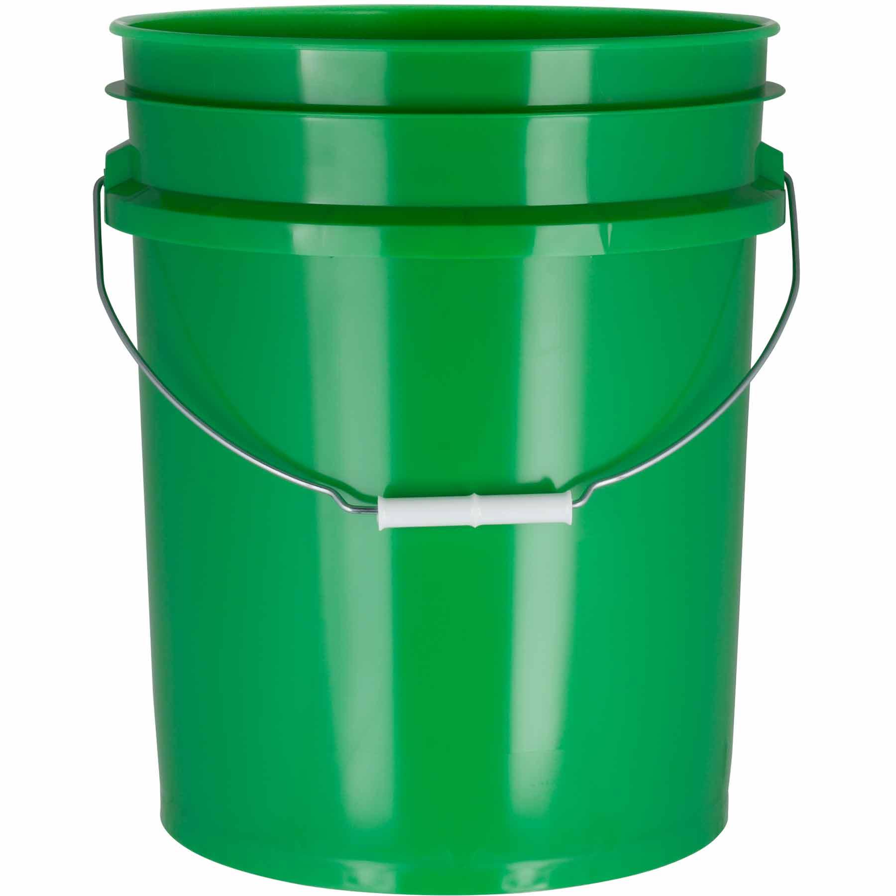 5 Gallon Green Plastic Pail 90 Mil W Metal Handle