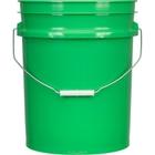 5 Gallon Green Plastic Pail (90 mil), w/ Metal Handle